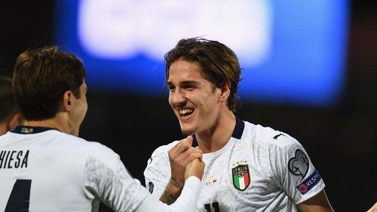 Roma midfielder Nicolo Zaniolo is wanted by Manchester United and PSG