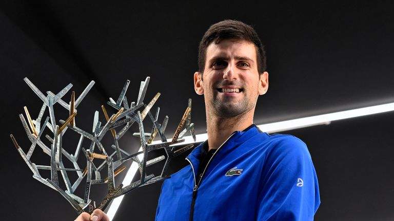 Novak Djokovic's record-extending fifth Paris Masters title in a warning to his rivals ahead of the ATP Finals