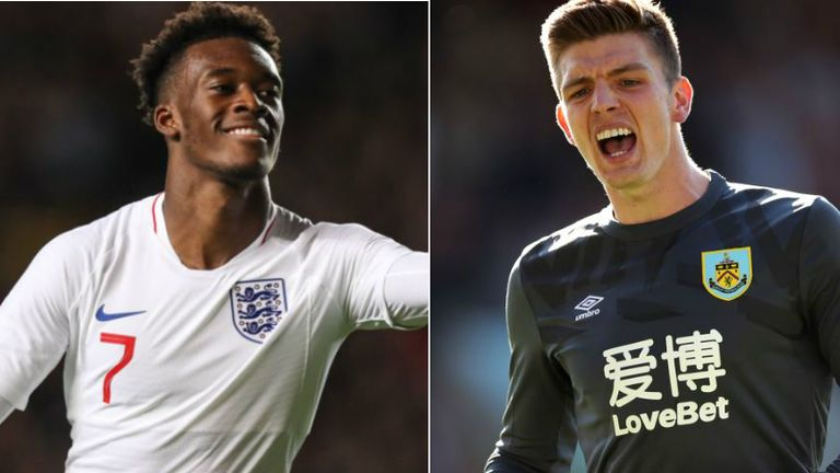 Callum Hudson-Odoi and Nick Pope will start for England in Kosovo