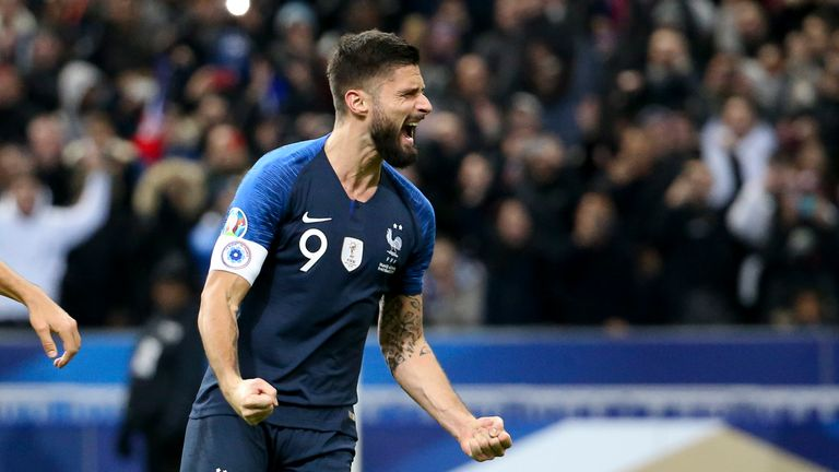 Giroud has played a key role for France during his time at Chelsea