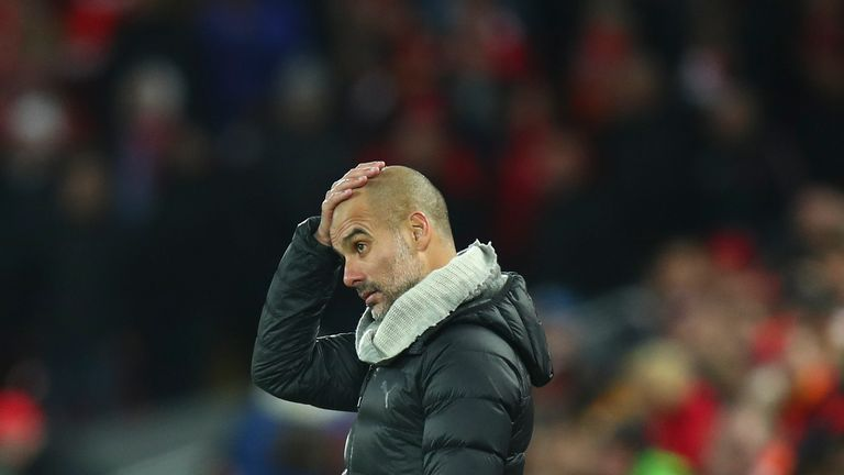 Manchester City suffered their third league defeat of the season against Liverpool earlier this month