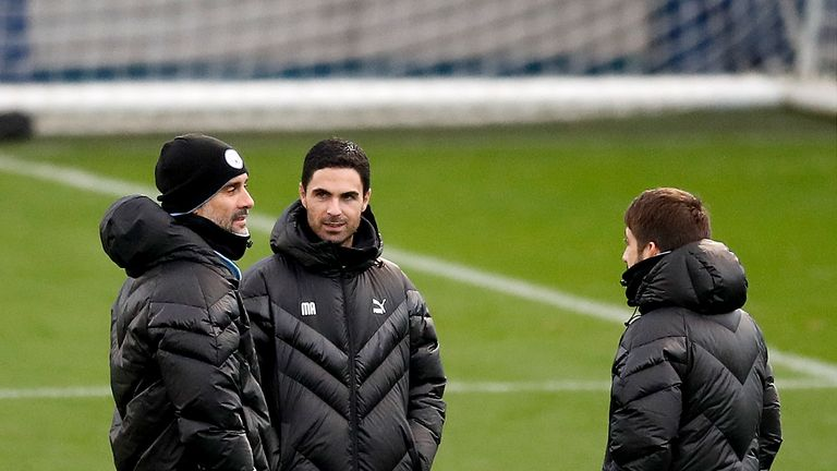 Arteta has worked under Pep Guardiola at Manchester City since 2016