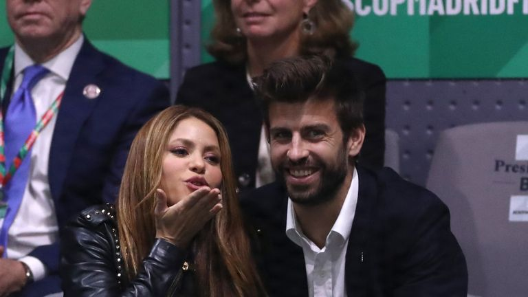 Gerard Pique and his partner Shakira were in attendance in Madrid
