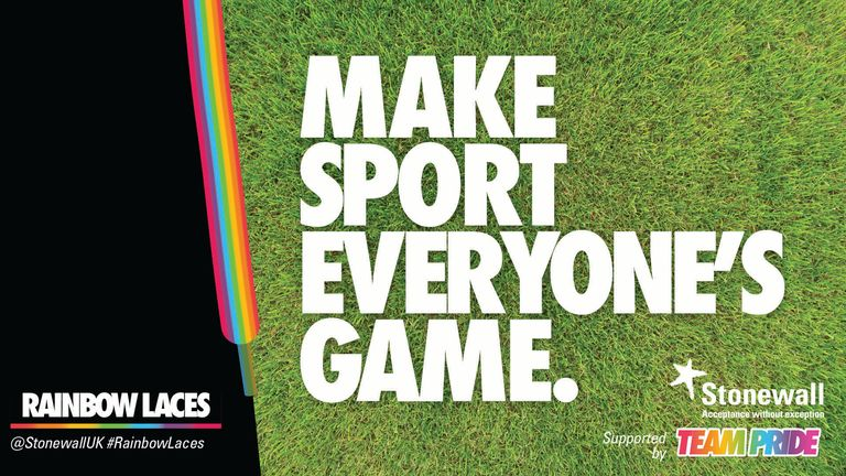 The Rainbow Laces campaign aims to raise awareness of LGBT+ inclusion across sport