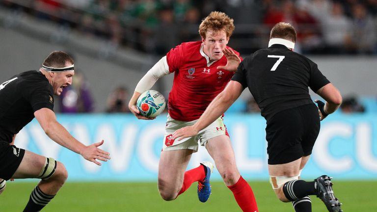 Rhys Patchell injured his shoulder in the World Cup game against New Zealand