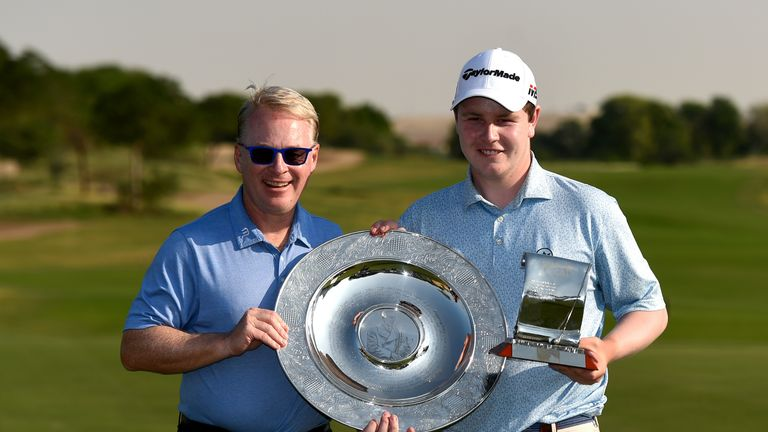 MacIntyre was presented with the awards by the European Tour's Keith Pelley