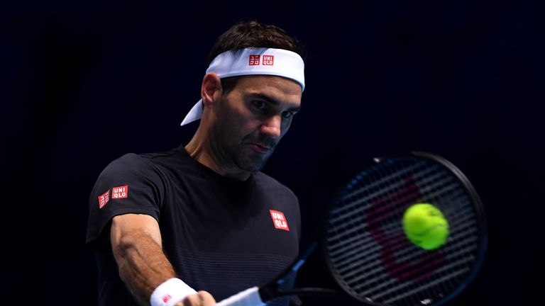 Roger Federer is in action against Dominic Thiem later on Sunday