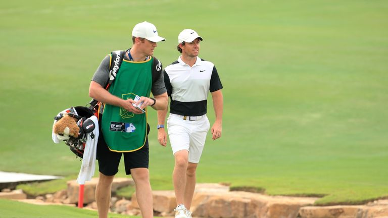 McIlroy has Niall O'Connor on his bag in Dubai