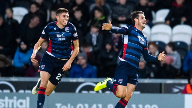 Brian Graham celebrates his goal for St Mirren