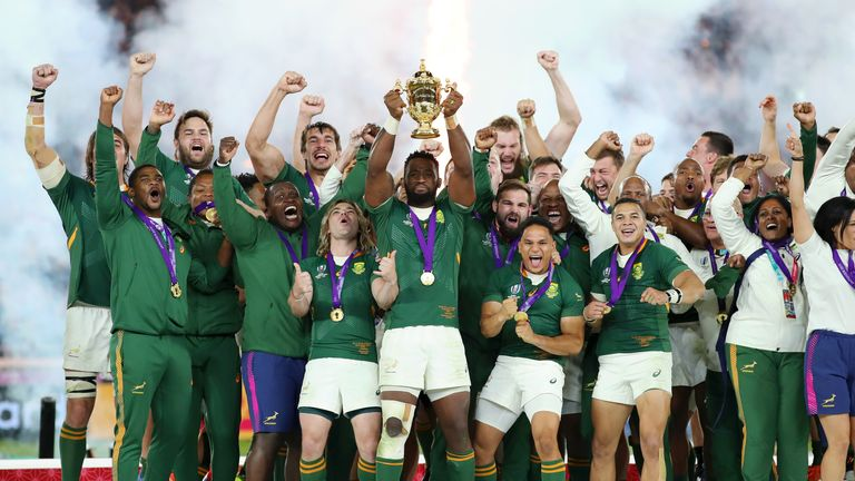 Rassie Erasmus led South Africa to World Cup victory in Japan last month