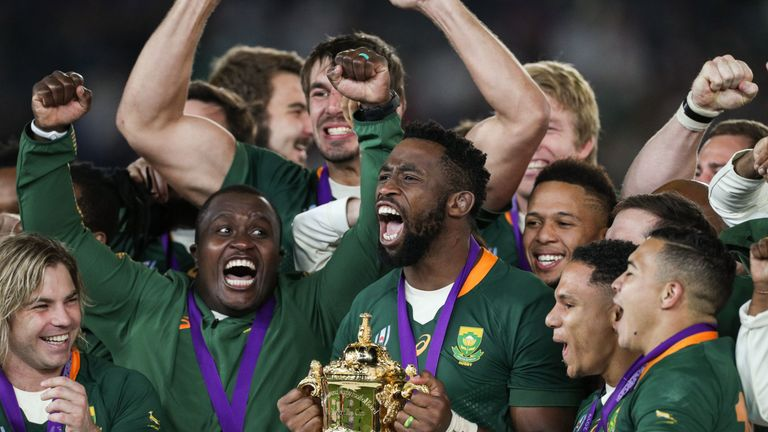 South Africa won the 2019 World Cup, but there have been 'no discussions' about them joining the Six Nations