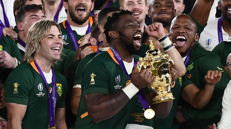 Kolisi led South Africa to their first Rugby World Cup win since 2007