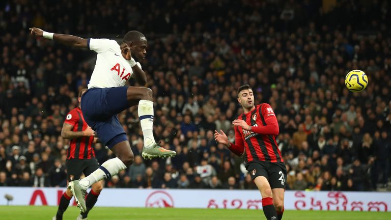 Moussa Sissoko crashes in Tottenham's third after a brilliant, sweeping move