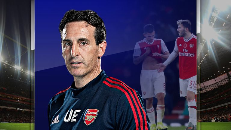 Unai Emery is continuing to struggle at Arsenal