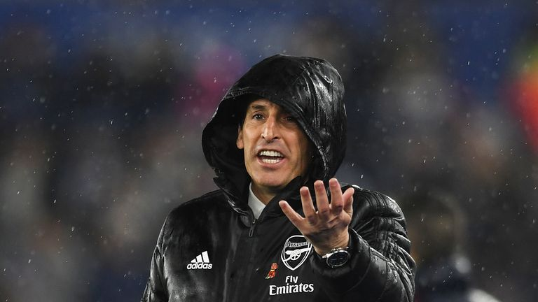 Unai Emery is under pressure at Arsenal, who are sixth in the Premier League