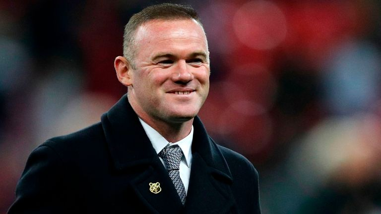 England's record goalscorer Wayne Rooney was in attendance at Wembley for the half-time presentation