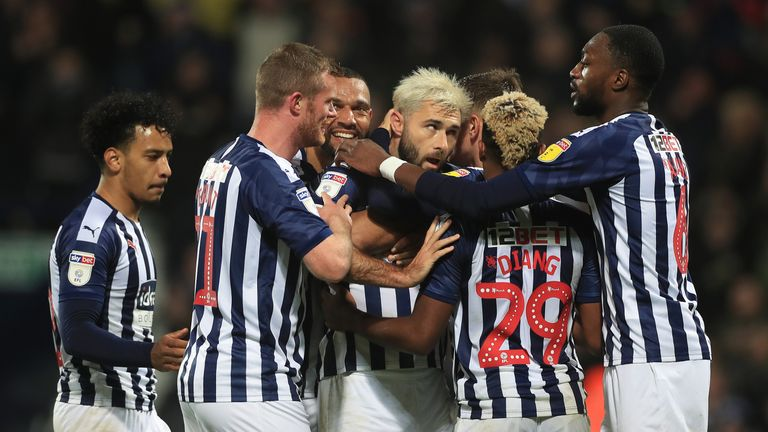 West Brom beat Sheffield Wednesday 2-1 at The Hawthorns
