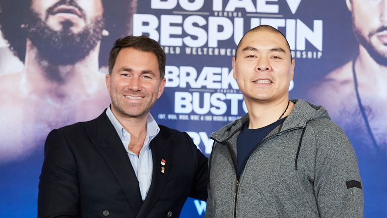 Zhang Zhilei has signed a promotional deal with Eddie Hearn
