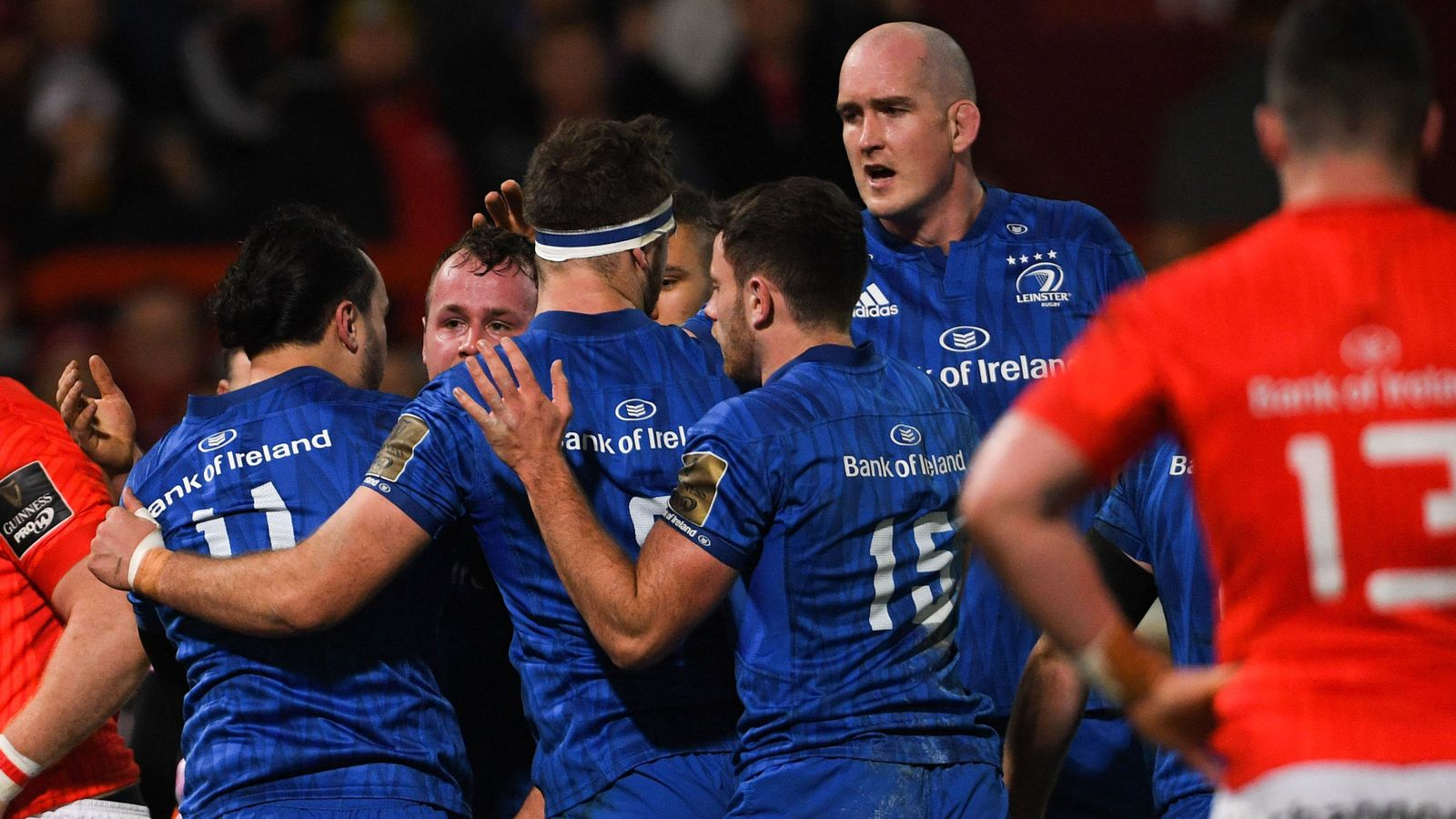 Munster 6-13 Leinster: Visitors inflict first home defeat at Thomond Park for two years