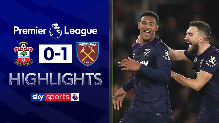 FREE TO WATCH: Highlights from West Ham's win against Southampton in the Premier League.