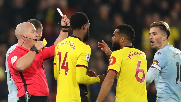 Adrian Mariappa saw red for the first time in seven years