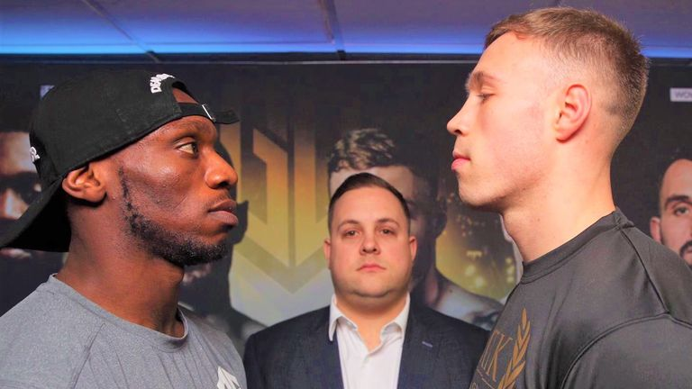 Liam Conroy (right) relishes a showdown with Andre Sterling
