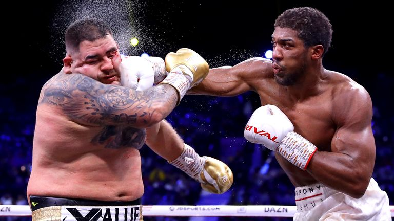 Highlights from Anthony Joshua's win over Andy Ruiz Jr in Saudi Arabia which saw him reclaim the IBF, WBA and WBO titles