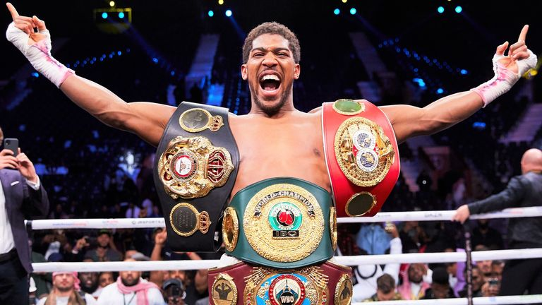 Anthony Joshua currently holds four heavyweight world titles