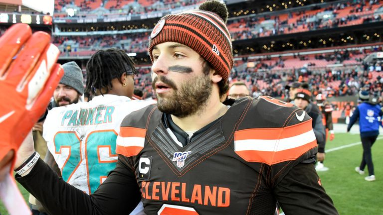 Mayfield holds the NFL record for most passing touchdowns by a rookie quarterback with 27