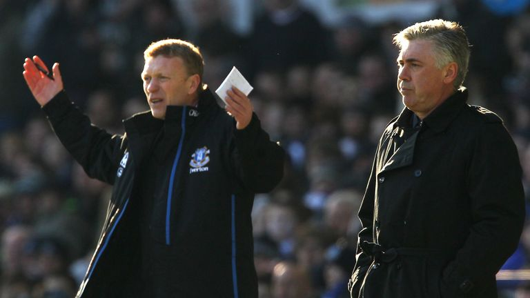 Both David Moyes and Carlo Ancelotti are in the running for the Everton job