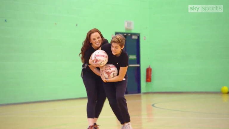 The duo were put through their paces at England Netball's training base in Loughborough
