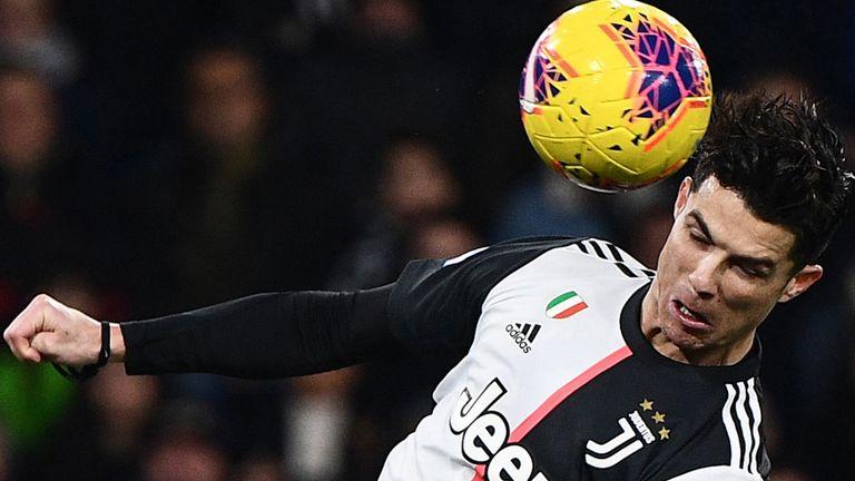 Cristiano Ronaldo scored a superb header against Sampdoria