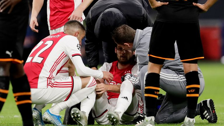 Blind suffered from dizziness in his side's 1-0 defeat to Valencia