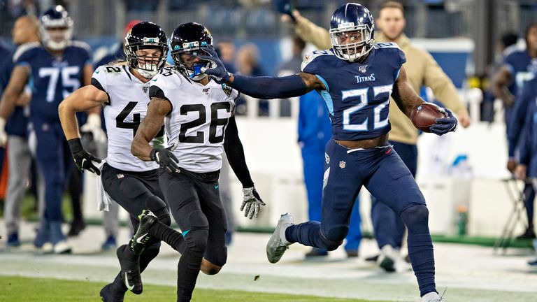 Running back Derrick Henry is having an amazing four-game stretch