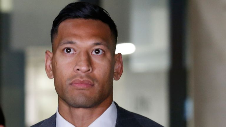 Folau reached an undisclosed settlement with Rugby Australia in December 2019