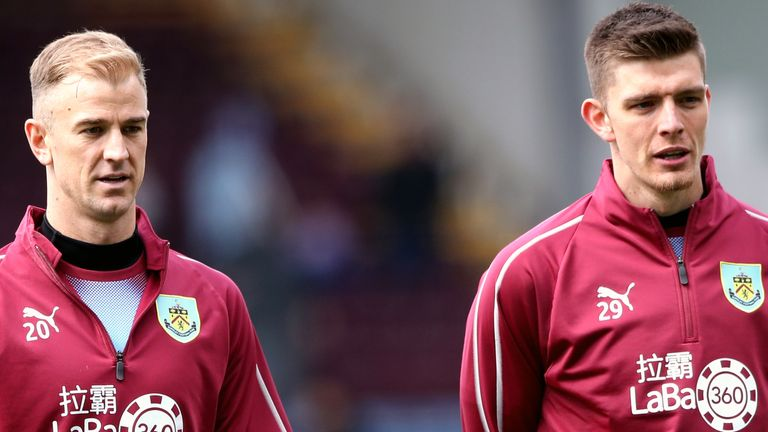 Hart is  is one of four goalkeepers at Turf Moor