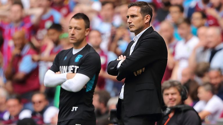 John Terry and Frank Lampard were in the opposition dugouts when Aston Villa beat Derby in last season's Championship play-off final
