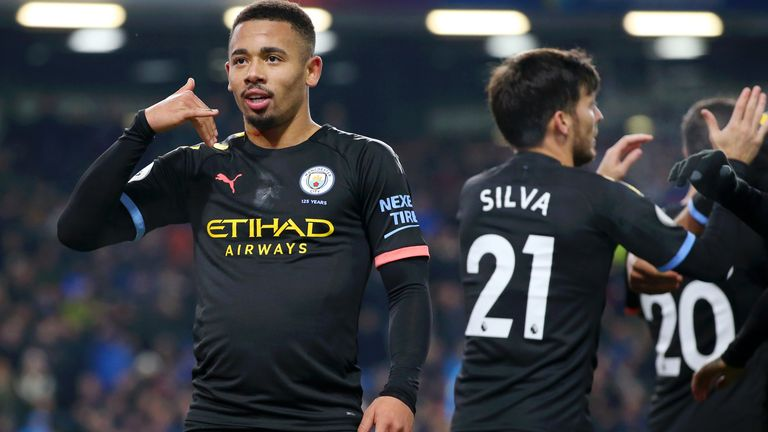 Gabriel Jesus was back in the goals on Tuesday at Burnley
