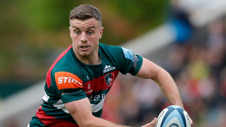 George Ford, playing for the Leicester Tigers