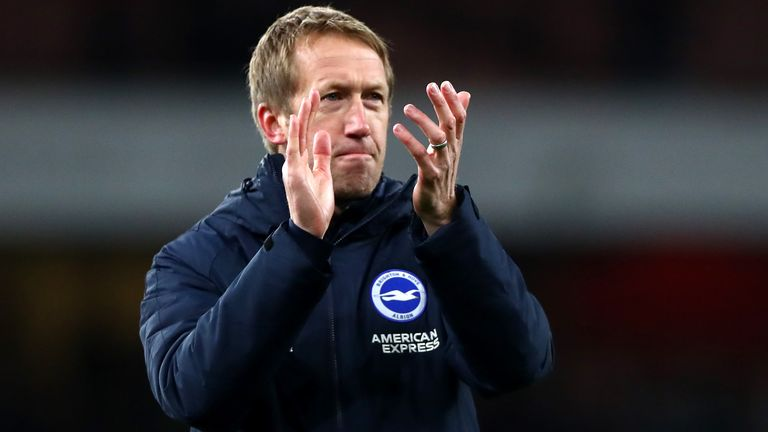 Brighton head coach Graham Potter has taken a voluntary pay cut for the next three months