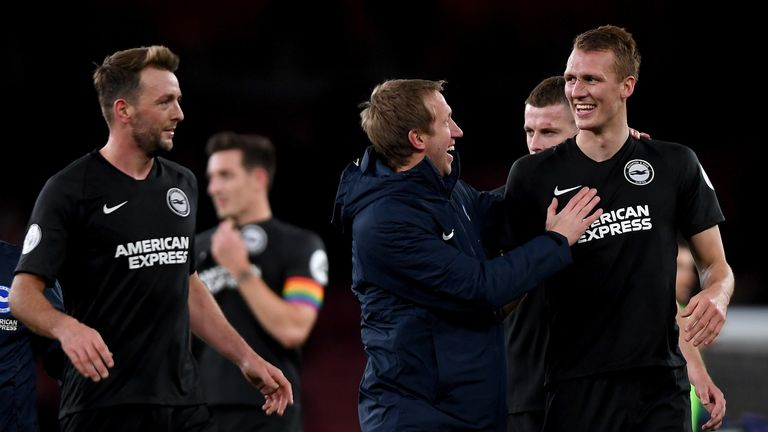 Graham Potter has forged a strong relationship with the Brighton players