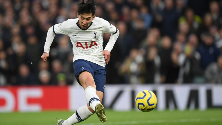 Heung-Min Son slots home his stunning solo effort to make it 3-0