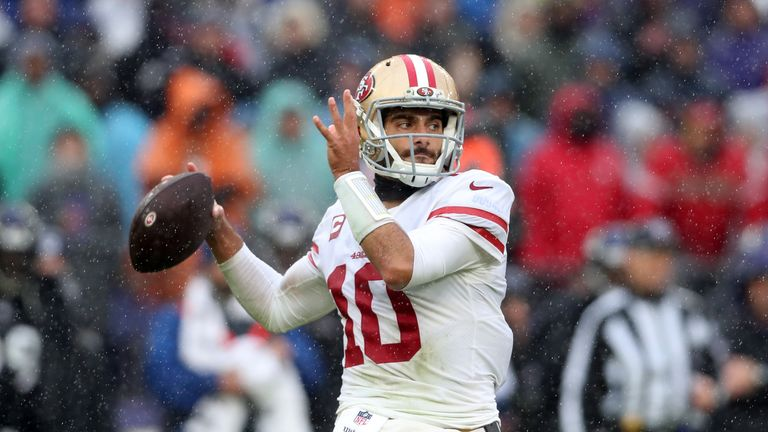 Jimmy Garoppolo had a solid but unspectacular day