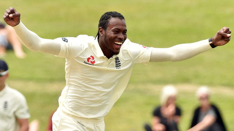Jofra Archer was already celebrating the wicket before seeing the catch had gone down