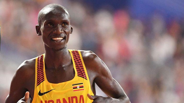 Joshua Cheptegei set a new 10km road world-record time of 26:38 in Valencia