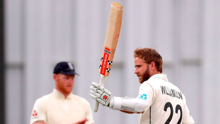 Kane Williamson was dropped twice on his way to an unbeaten century