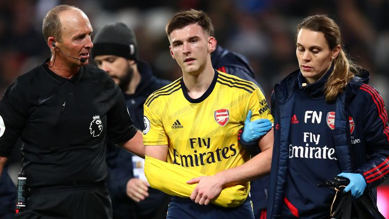Kieran Tierney's first season at Arsenal has been disrupted by injuries