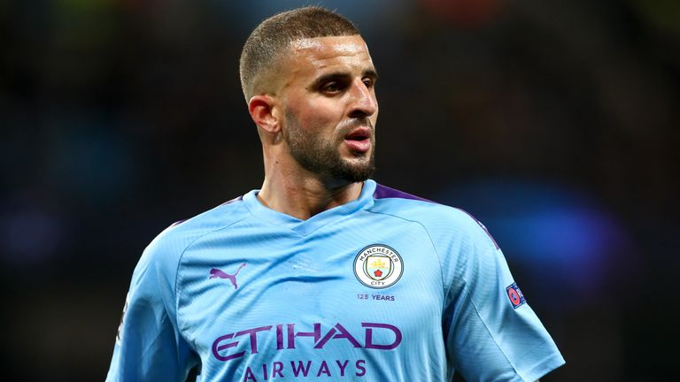 Kyle Walker started for Man City in their defeat to Man Utd
