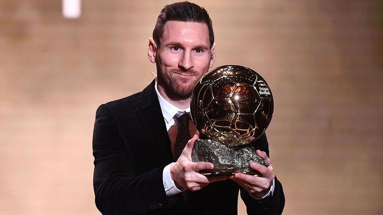Lionel Messi picked up the award for a sixth time