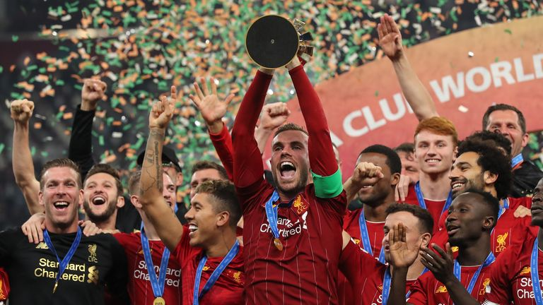 Henderson helped Liverpool to FIFA Club World Cup glory last month